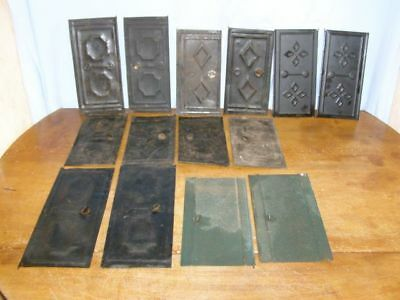 Lot of 14 old side doors  for comtoise movement