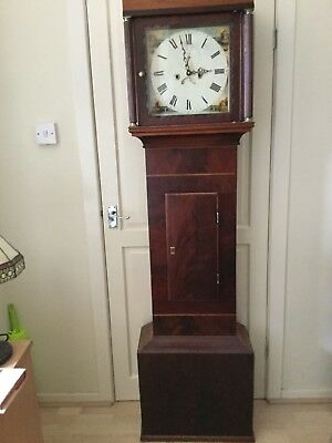 antique longcase grandfather clock .with Quartz Movement