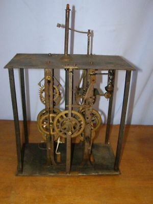 Old movement of comtoise for coins  mechanism works