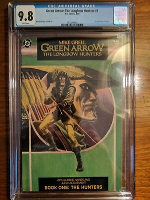 Green Arrow: The Longbow Hunters #1 CGC 9.8 White Pages DC 1987
