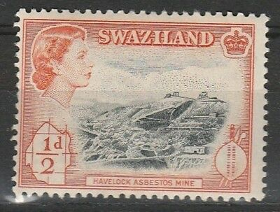 1956 SWAZILAND 1/2d HAVELOCK MINE SG 53 M/MINT