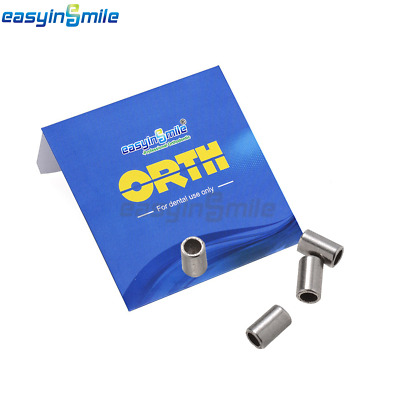 10Pcs Orthodontic Crimpable Stops Stainless Steel0.5/0.8MM Archwire EASYINSMILE