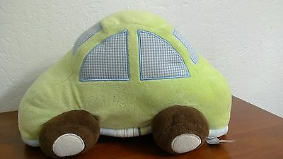 Plush Baby Car Green Blue Kidsline Soft Pillow Mosaic Transport