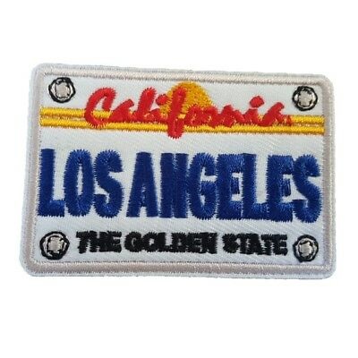 California License plate LOS ANGELES Iron On Patch Sew on Transfer USA License