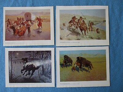 4 Frederick Remington Western Art Prints - 1976 -  C MY CIVIL WAR PRINTS     #9