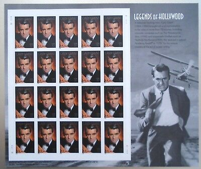 Legends of Hollywood Cary Grant 37¢ USPS 20 Postage Stamps New 2002