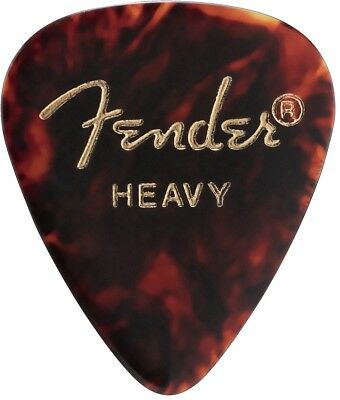 Fender 351 Classic Celluloid Guitar Picks Shell HEAVY 144-Pack 0980351500   NEW