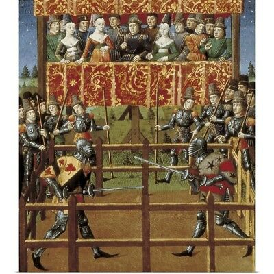 Poster Print Wall Art entitled Tournament (15th c.) France