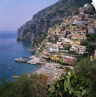 Wall Decal entitled Hill Town of Positano on the Amalfi Coast, Italy