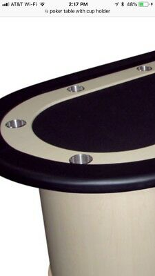 Casino Poker Table Drop In Stainless Steel Cupholder Can-Sized