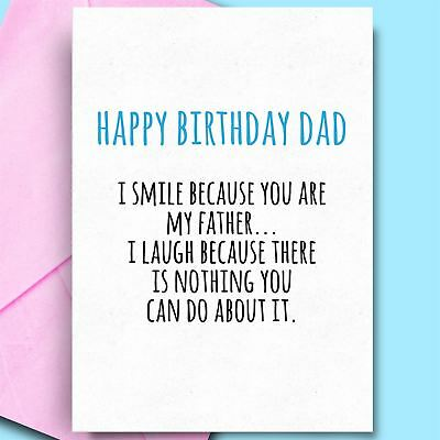 Dad Cards From Daughter Son Funny Cheeky Unique Birthday Card