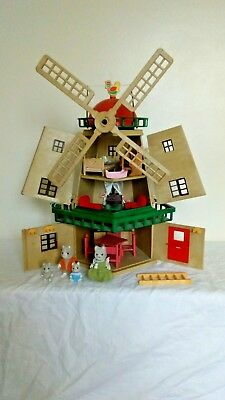 Sylvanian Families Vintage Windmill, Fully Furnished With Family
