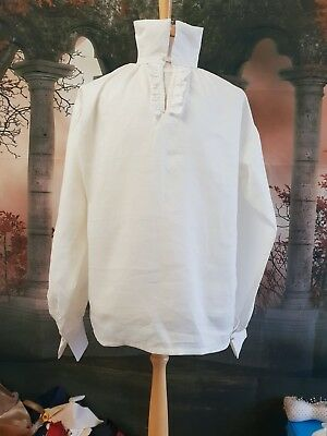 Made To Order Georgian/ Regency Military Style Linen Shirt.