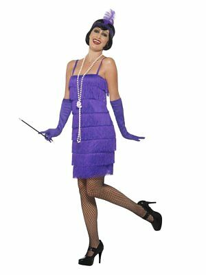 Razzle Dazzle 1920's Short Purple Flapper Dress Women's Adult Costume Size 2X
