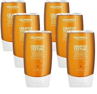 6 Stück Goldwell Style Sign Creative Texture Hardliner Acryl Gel 150ml