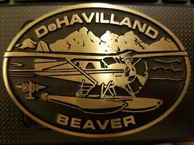 Dehavilland Turbine Otter & Beaver Brass Belt Buckle