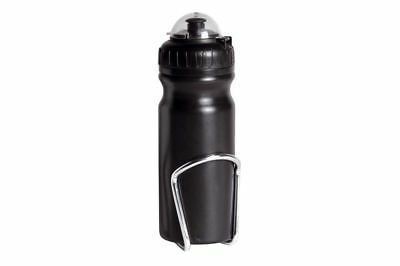 Raleigh Bottles & Cages - Bottle Wide Neck Black+Cage^# Black 680Ml