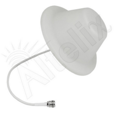 50 Ohm Wide Band Dome Ceiling Antenna for 3G 4G LTE Cell Phone Booster N Female
