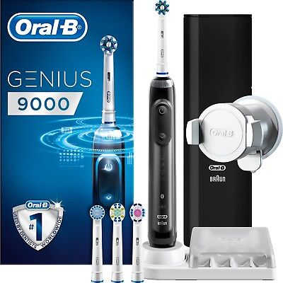 Oral-B Genius 9000 Pro Black Electric Rechargeable Toothbrush Braun