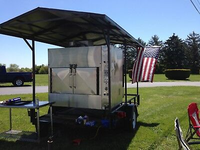 Trailer with Ole Hickory Smoker EL-IB