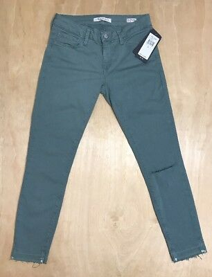 Aqua Mid-Rise SUPER SKINNY ADRIANA ANKLE Patched Jeans ~ 28 NWT MAVI JEANS Lt