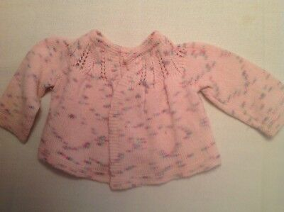 Vintage Hand Knit Wool Baby Sweater