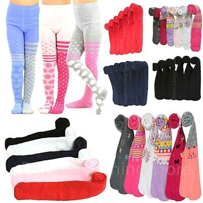 6pcs Girls Toddlers Children Warm Winter Solid Printed Assorted Tights Lot XS~XL