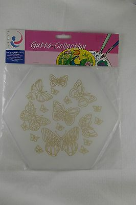 Arty's Gutta Silk Painting Butterfly 100% Silk Window Decoration 9 inches