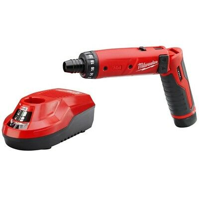 Milwaukee Electric Screwdriver Kit 4V Lithium-Ion 1/4 in. Cordless Hex 2-Speed