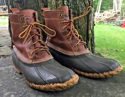 Vintage LL BEAN Mens Original Hunting Shoes/Boots Size 10  VGUC Brown/Brown