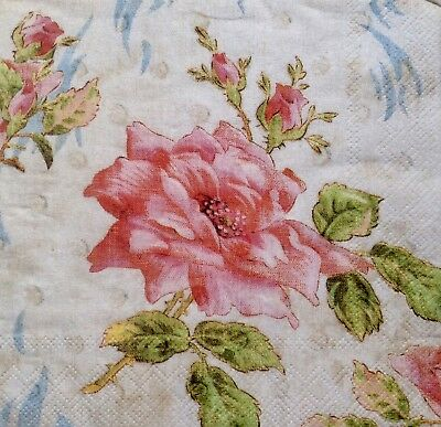 3 Paper Napkins for Decoupage / Parties / Weddings - Roses