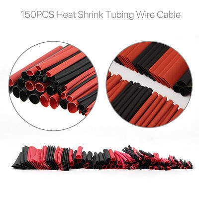 150PCS Assortment Heat Shrink Sleeve Electrical Cable Tube Tubing Wrap Wire Kit