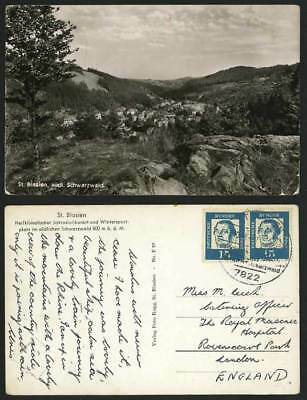 Germany 1963 Old R.P. Postcard ST. BLASIEN Black Forest
