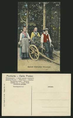 Germany Old ETHNIC Postcard BLACK FOREST Volkstrachten