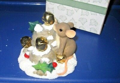 Charming Tails by Fitz & Floyd - Jingle Bell Rock 87/132 - Christmas Mouse