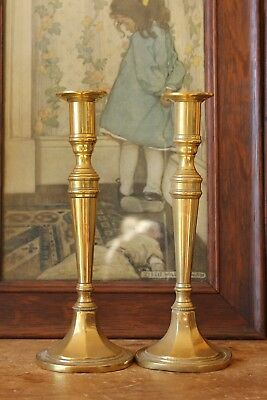 Antique Brass candlesticks.