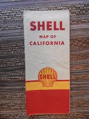 Shell Map of California - 1957 vintage
