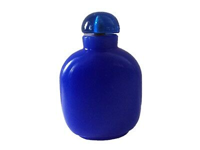 Old Chinese Peking Glass Lapis Blue Snuff Bottle