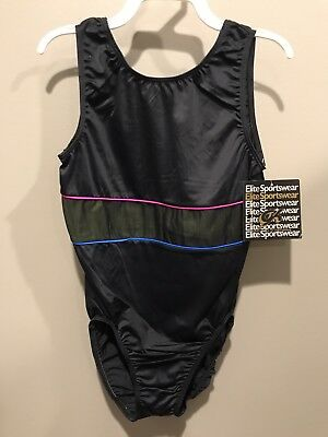 New With Tags Adult X-Large Gym Kin Elite Sports Wear Tank Leotard.