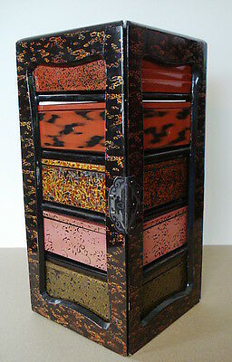 Superb Unusual Japanese Lacquer Picnic Box Meiji Period 19Th C Japan