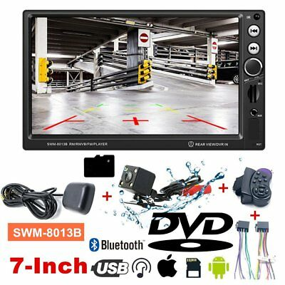 "7"" HD 1080P Car DVD GPS Vehicle Audio Video Player USB Bluetooth + Camera LOT SM"