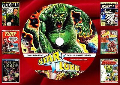 Starlord + Fury + Rocket + Target + More Comics ON DVD Rom