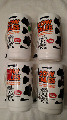 Goetze's Cow Tales Tumbler With Cow Tail Handle Collectible Cup(Set of 4)