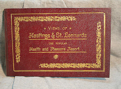 VIEWS OF HASTINGS & ST LEONARDS health and pleasure resort rare antique old book