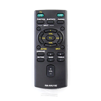 New RM-ANU192 Remote Control for Sony HT-CT60BT SA-CT60BT SS-WCT60