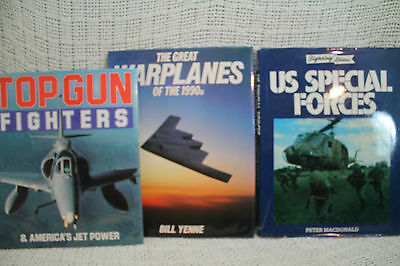 lot 3 military GREAT WARPLANES OF THE 1990S TOG GUN FIGHTERS U.S. SPECIAL FORCES