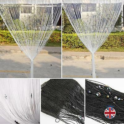 Dew Drop Beaded String Door Window Divider Room Blind Tassel Fly Screens
