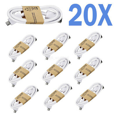 20x Micro USB Cabel Charging Cord Fit Samsung S3/4/6/7 Edge Note 4/5 Android lot