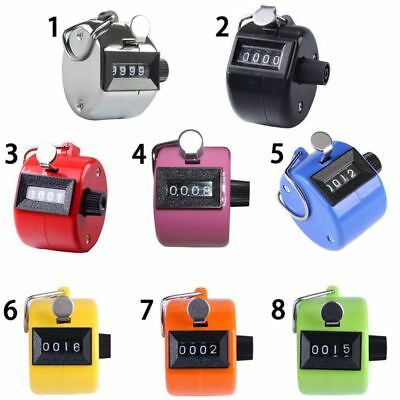 8 Colors Portable Mini Mechanical Clicker Click 4 Digit Hand Tally Counter US