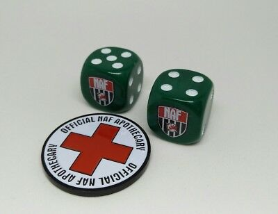 NAF Blood Bowl dice + apothecary coin